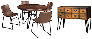 Centiar Dining Table and 4 Chairs with Storage, , large