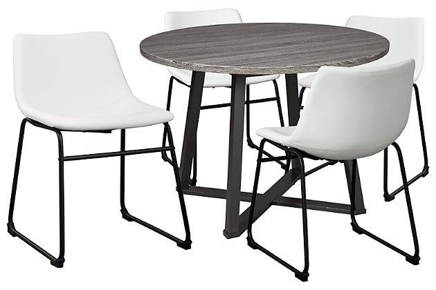 Centiar Dining Table and 4 Chairs, White, large