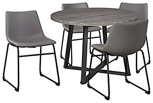 Centiar Dining Table and 4 Chairs, Gray, large