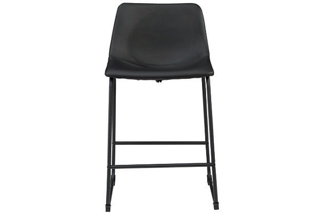 Centiar Counter Height Bar Stool, Black, large