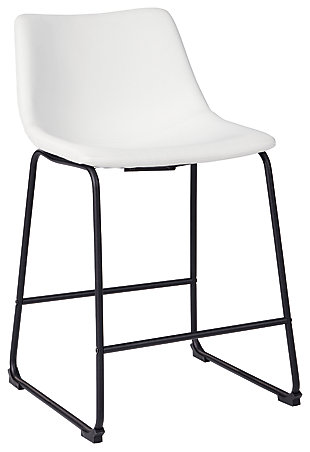 Centiar Counter Height Bar Stool, White, large