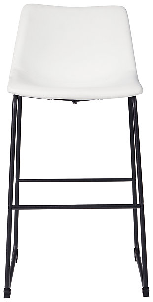 Centiar Pub Height Bar Stool, White, large