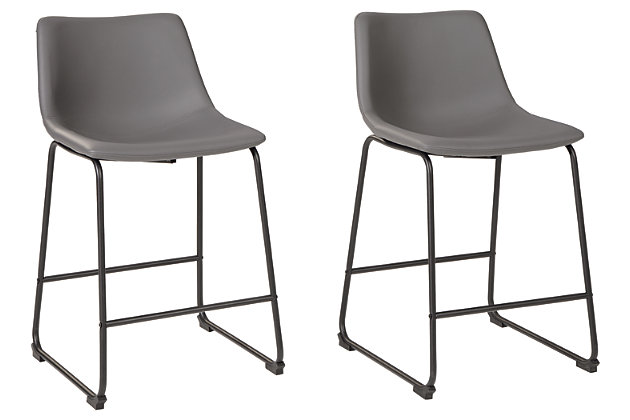 Centiar Counter Height Bar Stool, Gray, large