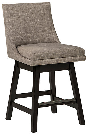 Tallenger Counter Height Bar Stool, Light Gray, large