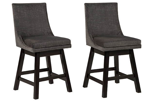 Tallenger Counter Height Bar Stool, Dark Gray, large