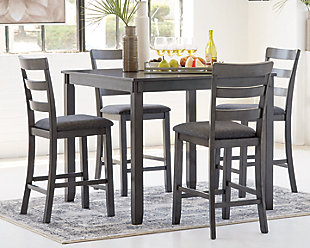 Bridson Counter Height Dining Room Table and Bar Stools (Set of 5), , rollover