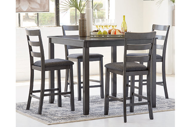 Bridson Counter Height Dining Table And Bar Stools Set Of 5 Ashley Furniture Homestore