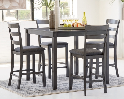 Picture of: Bridson Counter Height Dining Table And Bar Stools Set Of 5 Ashley Furniture Homestore