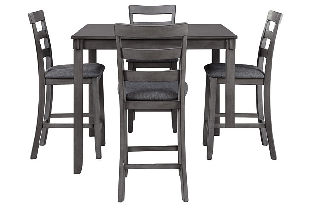 Bridson Counter Height Dining Room Table and Bar Stools (Set of 5), , large