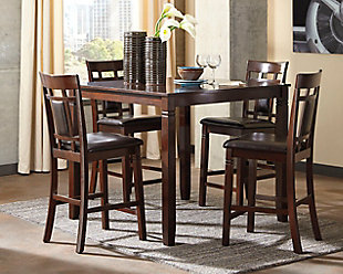 Bennox Counter Height Dining Room Table and Bar Stools (Set of 5), , rollover