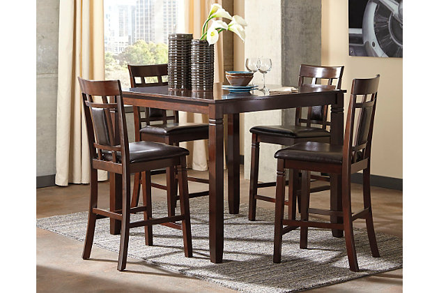 Bennox Counter Height Dining Room Table and Bar Stools (Set of 5 ...
