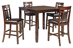 Bennox Counter Height Dining Room Table and Bar Stools (Set of 5), , large