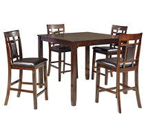 Brown Dining room furniture on a white background