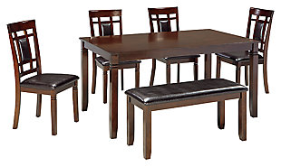 Bennox Dining Table and Chairs with Bench (Set of 6), , large