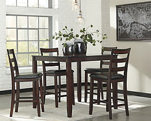 Coviar Counter Height Dining Room Table and Bar Stools (Set of 5), , rollover
