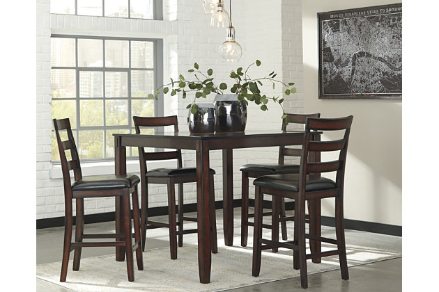 Coviar Counter Height Dining Room Table and Bar Stools (Set of 5 ...