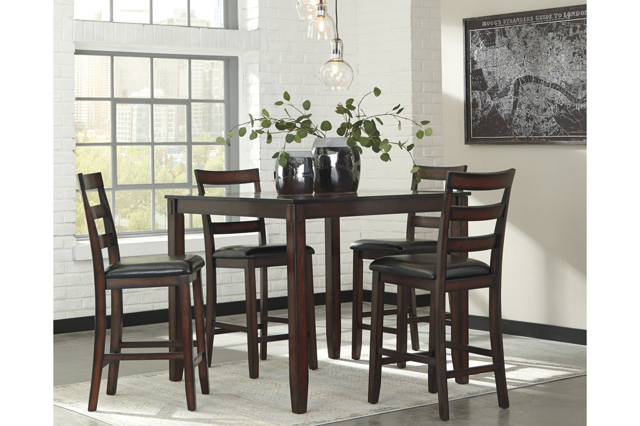 new product b0a20 2c9ca Coviar Counter Height Dining Room Table and Bar Stools (Set ...