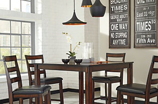 Coviar Counter Height Dining Room Table And Bar Stools