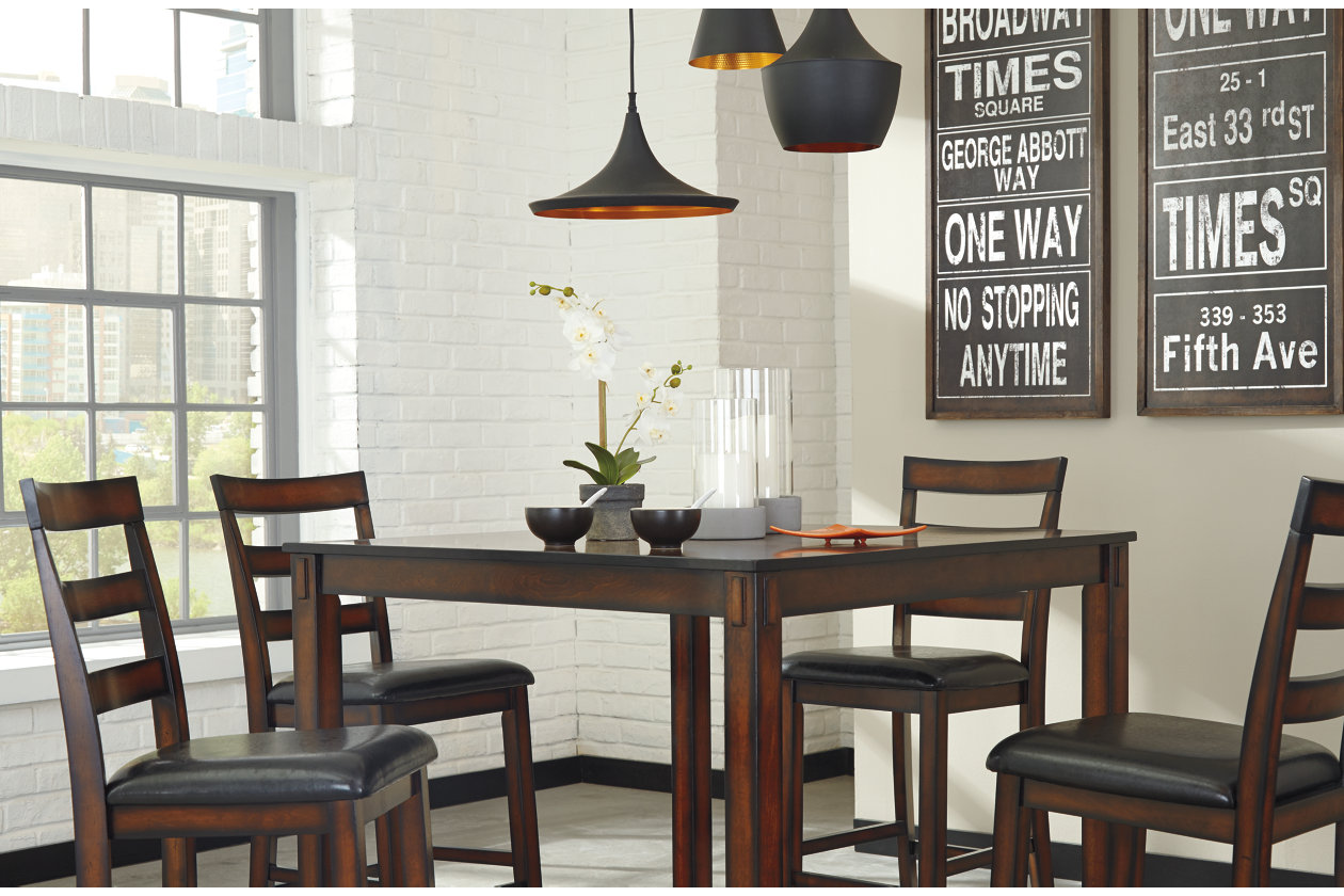 ad5ee84f1bd0fe Furniture · Sets · Dining Room Sets; Coviar Counter Height Dining Room Table  and Bar Stools (Set of 5). Images
