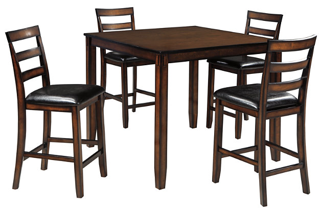 Coviar Counter Height Dining Room Table and Bar Stools (Set of 5), , large