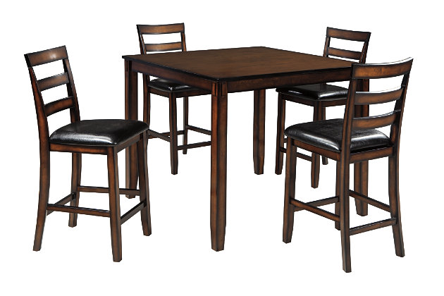 Coviar Counter Height Dining Room Table And Bar Stools (Set Of 5