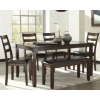 Set of 6 Coviar Dining Room Table and Chairs with Bench Deals