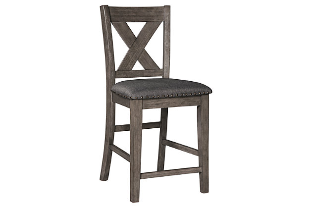 Caitbrook Counter Height Upholstered Bar Stool, , large