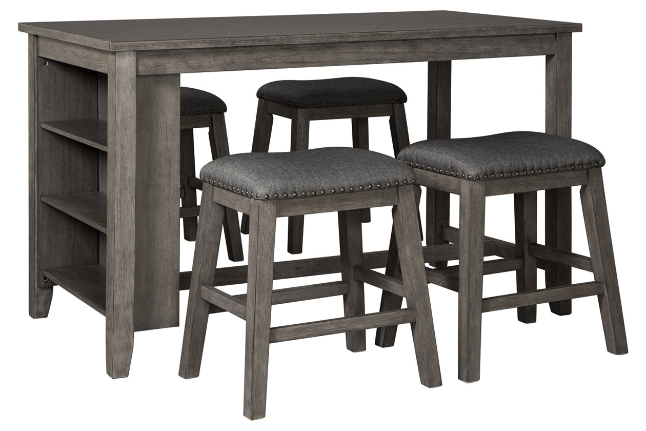 Caitbrook Counter Height Dining Table and 9 Barstools Set   Ashley ...