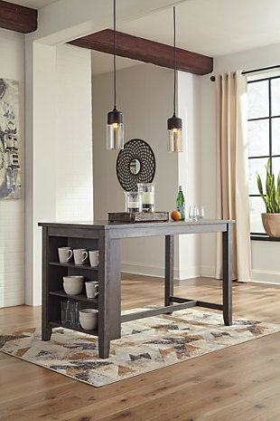 Caitbrook Counter Height Dining Table and 4 Barstools, , large