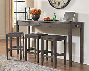 Caitbrook Counter Height Dining Room Table and Bar Stools (Set of 3), , rollover