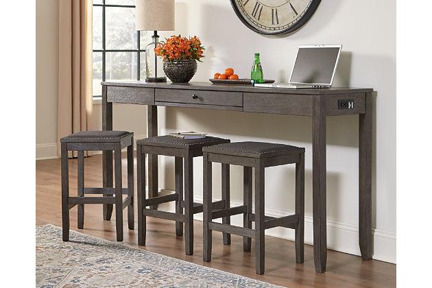 Caitbrook Counter Height Dining Set, Counter Height Desk