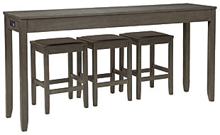 Caitbrook Counter Height Dining Room Table and Bar Stools (Set of 3), , large