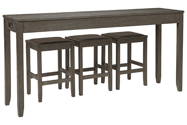Caitbrook Counter Height Dining Table and Bar Stools (Set of 3), , large