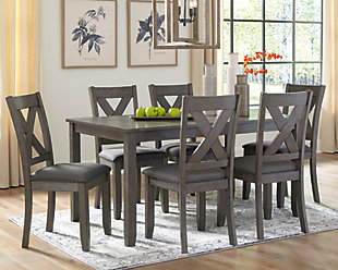 Caitbrook Dining Table and Chairs (Set of 7), , rollover