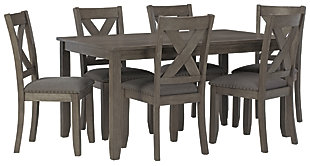 Caitbrook Dining Room Table and Chairs (Set of 7), , large