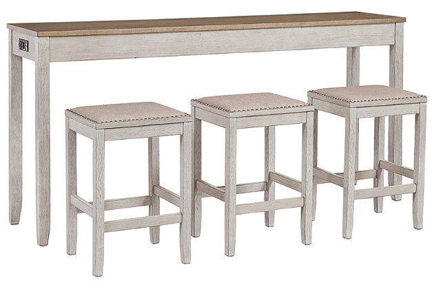 Skempton Counter Height Dining Room Table and Bar Stools (Set of 3), , large