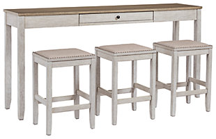 Skempton Counter Height Dining Table and Bar Stools (Set of 3), , large