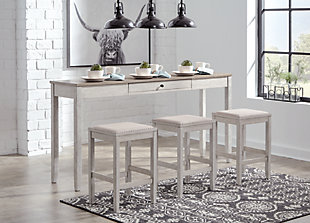 Skempton Counter Height Dining Room Table and Bar Stools (Set of 3), , rollover