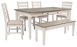 Skempton Dining Table and 4 Chairs and Bench, , large