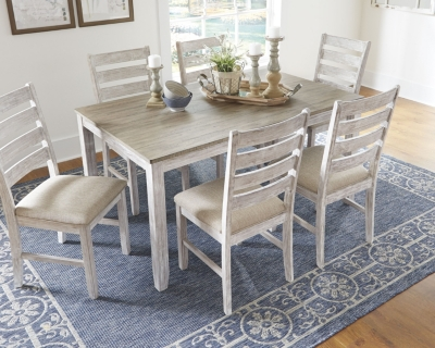 Room Table Chairs White Light Brown Dining Product Photo
