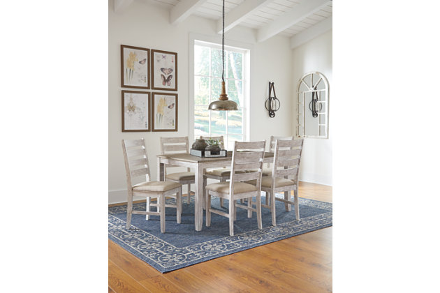 Skempton Dining Room Table and Chairs (Set of 7), , large