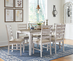 Large Skempton Dining Room Table And Chairs Set Of 7 Rollover