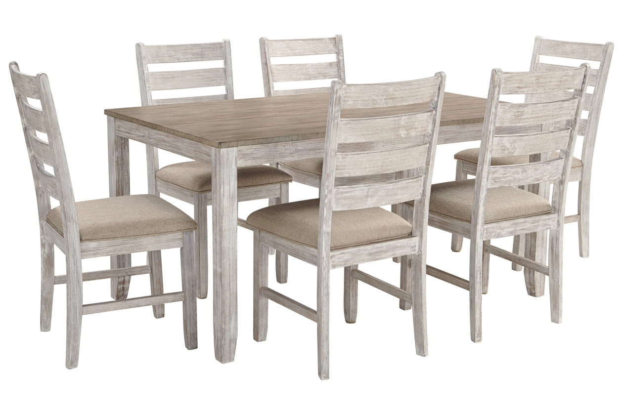 Skempton Dining Room Table And Chairs Set Of 7 Ashley Furniture