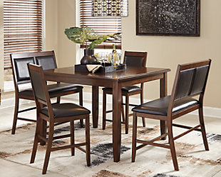 Meredy Counter Height Dining Room Table And Bar Stools Set Of 5