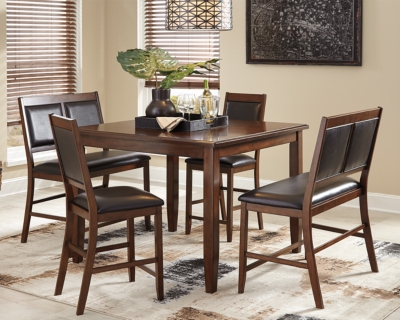 Meredy Counter Height Dining Room Table And Bar Stools Set Of 5 Ashley Fu