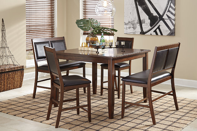 Meredy Counter Height Dining Table and Bar Stools (Set of 5), , large