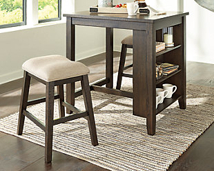 Rokane Counter Height Dining Room Table and Bar Stools (Set of 3), , rollover