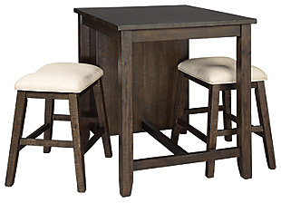 Rokane Counter Height Dining Table and Bar Stools (Set of 3), , large