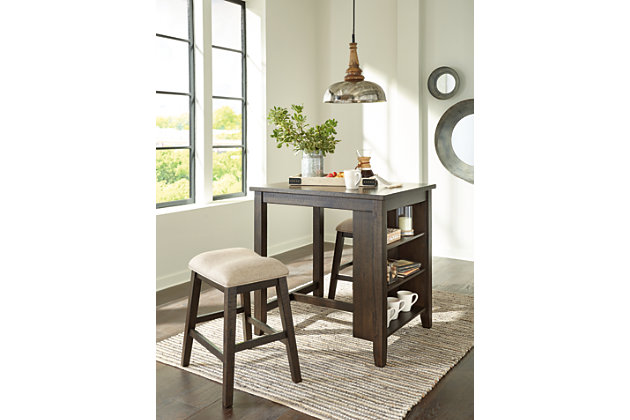 Rokane Counter Height Dining Room Table and Bar Stools (Set of 3), , large