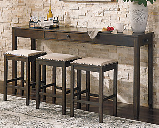 Rokane Counter Height Dining Table and Bar Stools (Set of 4), , rollover